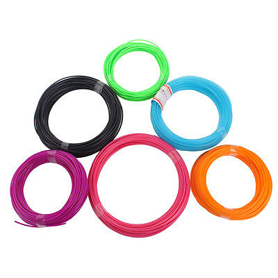 6 pcs ABS Filament ABS 3D Print Filament 1.75MM 3D Print Ink For 3D Printer Pen