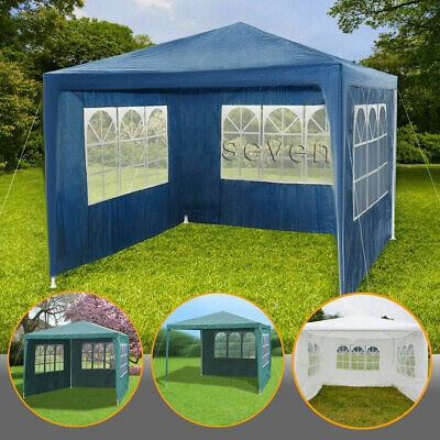 Oxford Cloth Waterproof Folding Outdoor Stall Tent for Wedding Garden Party Outdoor Gazebo Marquee Tent with Side Panels Garden Gazebo Marquee Tent Transparent