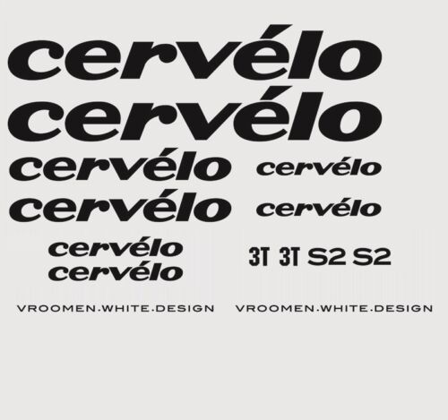 Cervelo S2 Bicycle Decals Stickers Transfers Black n.4