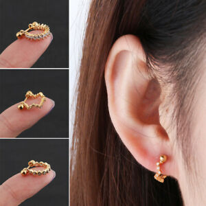 Surgical-Steel-Barbell-Bar-Rhinestone-Cartilage-Helix-Ear-Studs-Tragus-Earrings