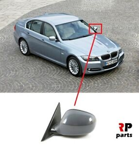 BMW E90 E91 3 SERIES LEFT SIDE ELECTRIC WING DOOR MIRROR WITHOUT GLASS RHD