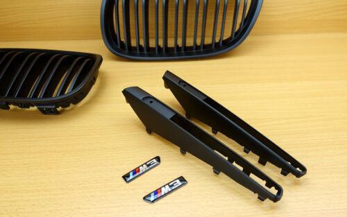 Front Grille M Look Matte Black Fit BMW E92 E93 E90 M3 Side Fender Matte Black