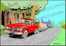 """""""Les chevaux de feu"""" dessin numérique Alfa Romeo Giulia style BD par JICEHER"""