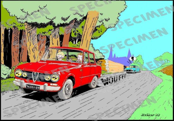 """""""les Chevaux De Feu"""" Dessin (7 Ex Disponibles) Alfa Romeo Giulia Par Jiceher"""
