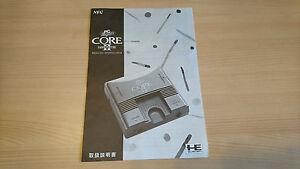 Notice-originale-NEC-PC-Engine-CORE-GRAFX-II-Manual-rare