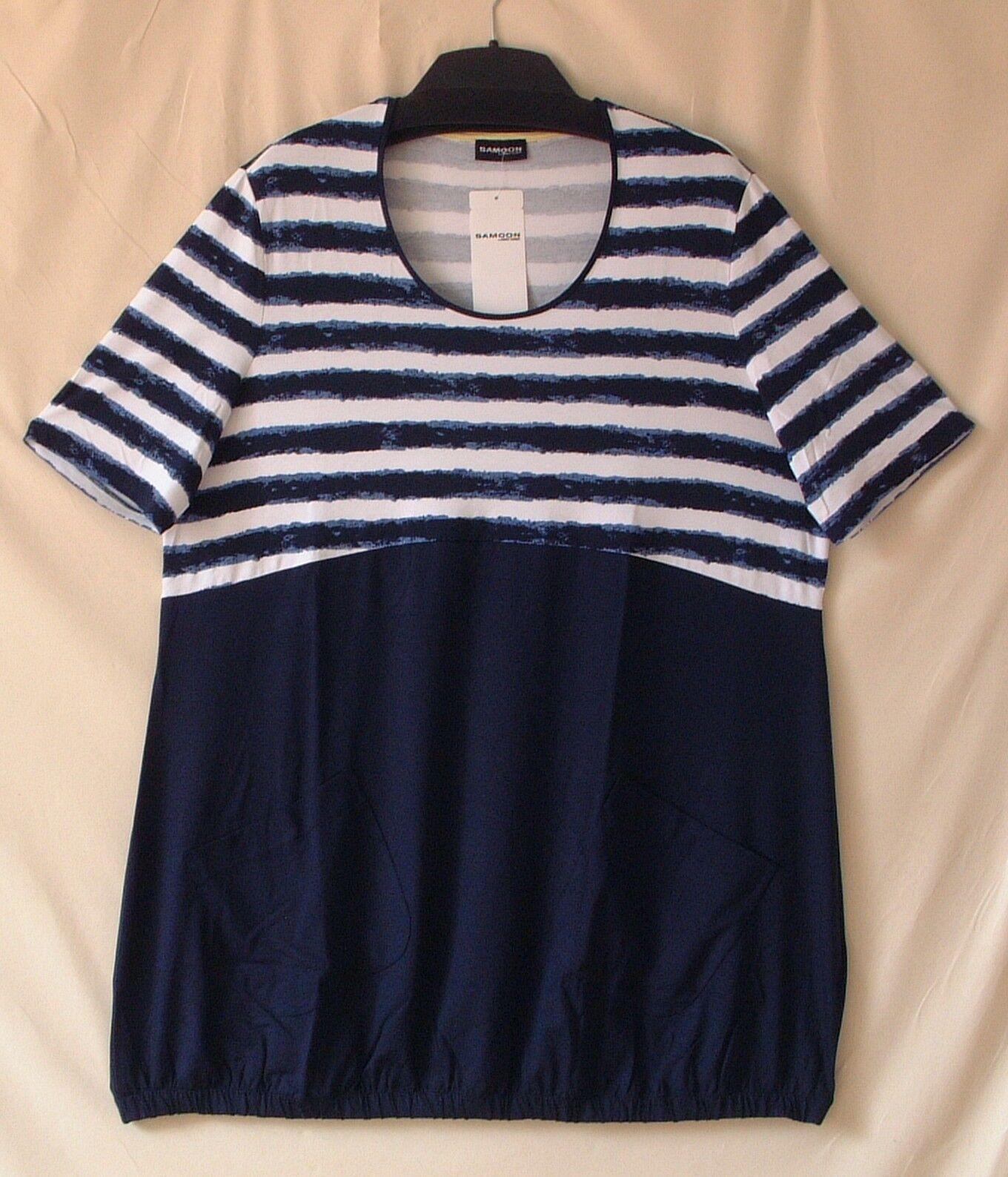 SAMOON Longstyle-shirt court Robe by Gerry Weber viscose stretch damen NEUF Größe 50