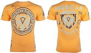 AMERICAN-FIGHTER-Mens-T-Shirt-KENNESAW-Athletic-ORANGE-Biker-Gym-MMA-40