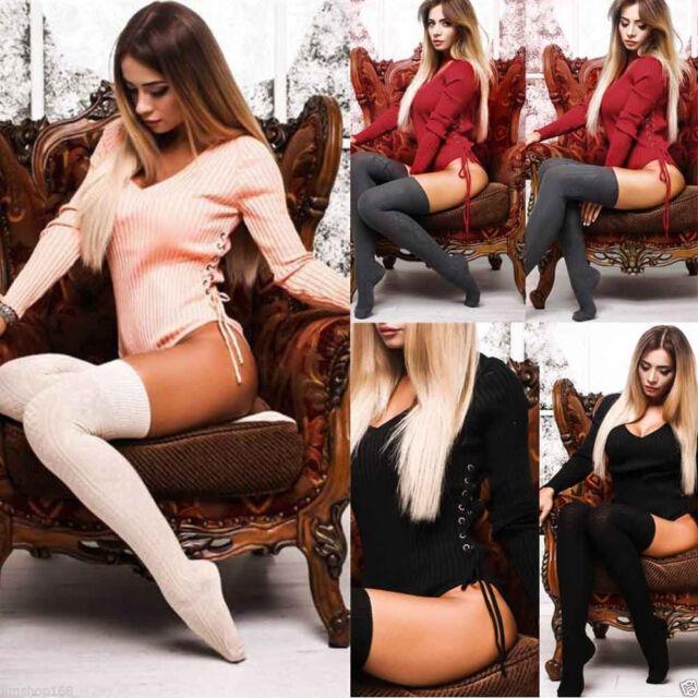 Hot Women V Neck Long Sleeve Bodycon Bandage Bodysuit Jumpsuit Slim Short Romper