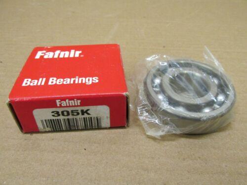 NIB FAFNIR 305K SINGLE ROW BALL BEARING NO SHIELDS 305 K 6305 25x62x17 mm