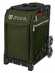 Zuca-Sport-Insert-Bag-Forest-Green-with-Sport-Frame-Black-Non-Flashing-Wheels