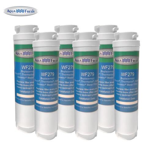 Fits Bosch B26FT80SNS//03 Refrigerators Aqua Fresh Water Filter 6 Pack