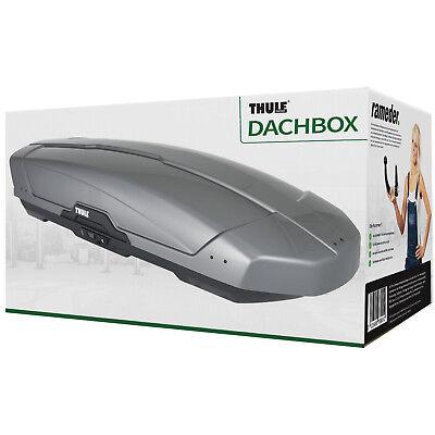 Thule Dachbox (Skibox, Dachkoffer), Motion XT XL grau, silber 500 l 2150x915x440