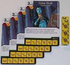 4 X LYSSA DRAK FUTURE SIGHT 89/142 War Of Light Dice Masters DC