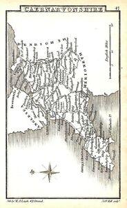 Antique map, Caernarvonshire