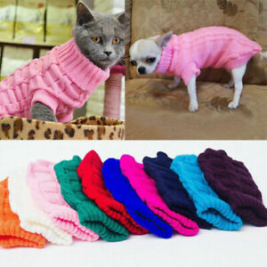 Winter-Dog-Clothes-Puppy-Pet-Cat-Warm-Sweater-Jacket-Coat-For-Small-Dogs-AU