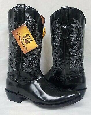 Mens Black Smooth Dress Cowboy Boots