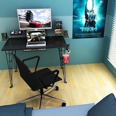 Gaming Desk Small Computer Desks Desktop Table For Kids Bedroom Modern  Black 31742357015 | eBay