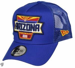 NEW-ERA-940-USA-PATCH-ARIZONA-A-FRAME-TRUCKER-CAP-GORRA-ORIGINAL-12150288-AZUL