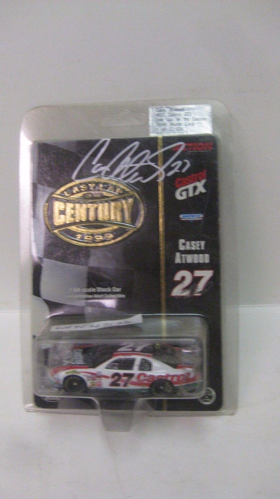 Nascar le Casey Atwood Autografato Castrol GTX Chevy 1 64 Pressofuso Nuovo