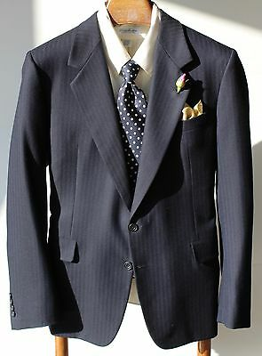 Gieves & Hawkes Savile Row 41R Navy Blue Textured Sport Coat - $1,295.00