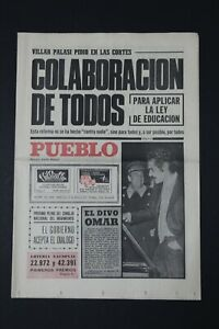 Antiguo Periodico PUEBLO, publicacion 15 Febrero 1972.  Perfectamente conservado