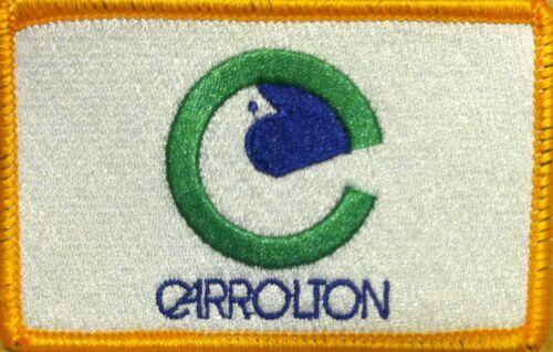 CARROLLTON TEXAS Flag Iron-On Morale Tactical Patch Gold Border #36