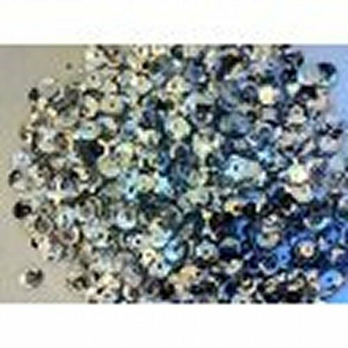 Blue Sequins 6mm Round Cupped 4000 pieces ~ 40g