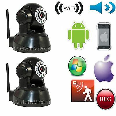 2 PCS Wireless Indoor IP Camera WiFi Security Surveillance System Home School