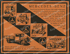 orig Reklame Mercedes-Benz Lkw Gaggenau Motoren Technik Diesel Daimler-Benz 1934