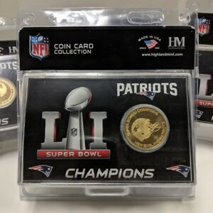 ea22c725 Details about New England Patriots Super Bowl LI Champions Coin Card  Highland Mint 4