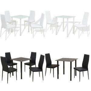 Détails Sur Ensemble Table Et Chaise De Salle à Manger Meuble De Cuisine 35 Pcs Noirblanc