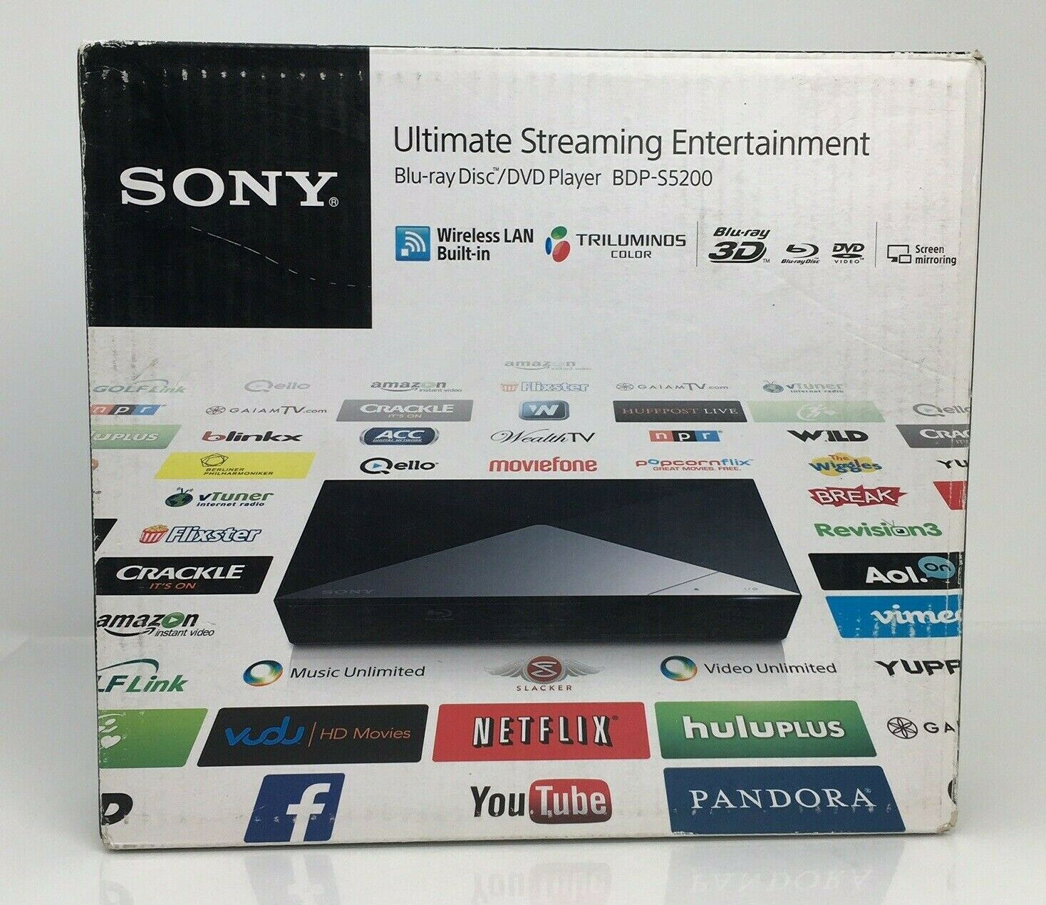 Sony BDP-S5200 3D Blu-ray/DVD Player + Wi-Fi Streaming, New Sealed new player sealed sony