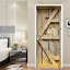 3D-Retro-Wood-Door-Wall-Wrap-Mural-Photo-Wall-Sticker-Decal-Wall-Home-Decoration thumbnail 2