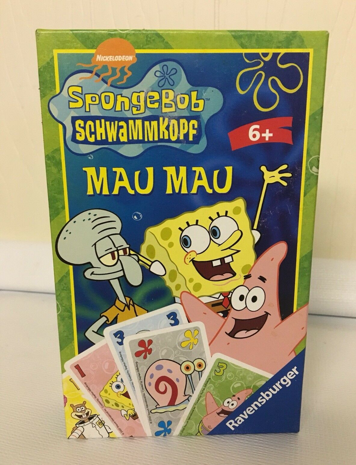 Spongebob Schwammkoff Mau Mau Card Game Ravensburger SEALED German Uno Crazy 8s