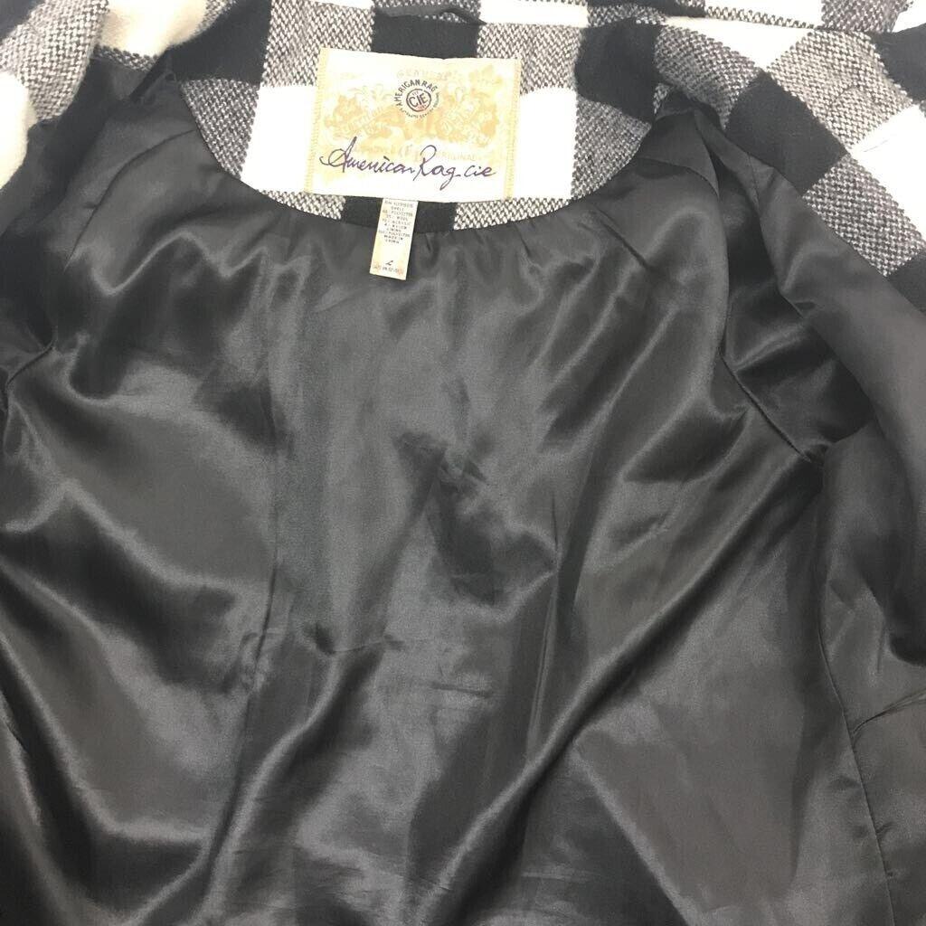 American Rag youth Duffel coat black/ white Buffa… - image 7