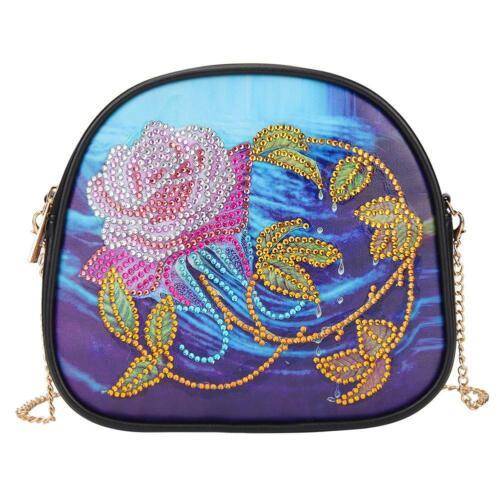 DIY Special Shaped Diamond Painting Leather Crossbody Chain Shoulder Bag Handbag