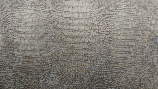 """Suede Velvet Fabric Alligator Prints 56"""" Wide Upholstery Tablecloths By The Yard"""