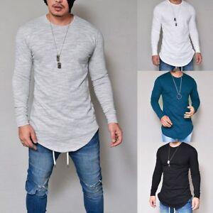 Fashion-Mens-Casual-Long-Sleeve-Shirts-Formal-Slim-Fit-Shirt-Tops-Blouse-T-Shirt