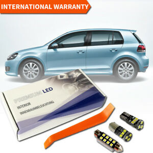 VW-Golf-6-MK-VI-LED-Interior-Premium-Set-11-SMD-Bulbs-White-Error-Free-GT-GTI-5K