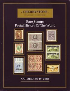 Details about CHERRYSTONE AUCTION October 16-17, 2018 Rare Stamps & Postal  History the World