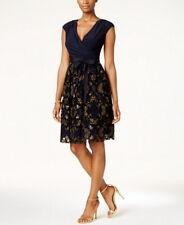 Sl Fashions Surplice Glitter Embellished Sash Dress Size 4 #C164 MSRP $109.00