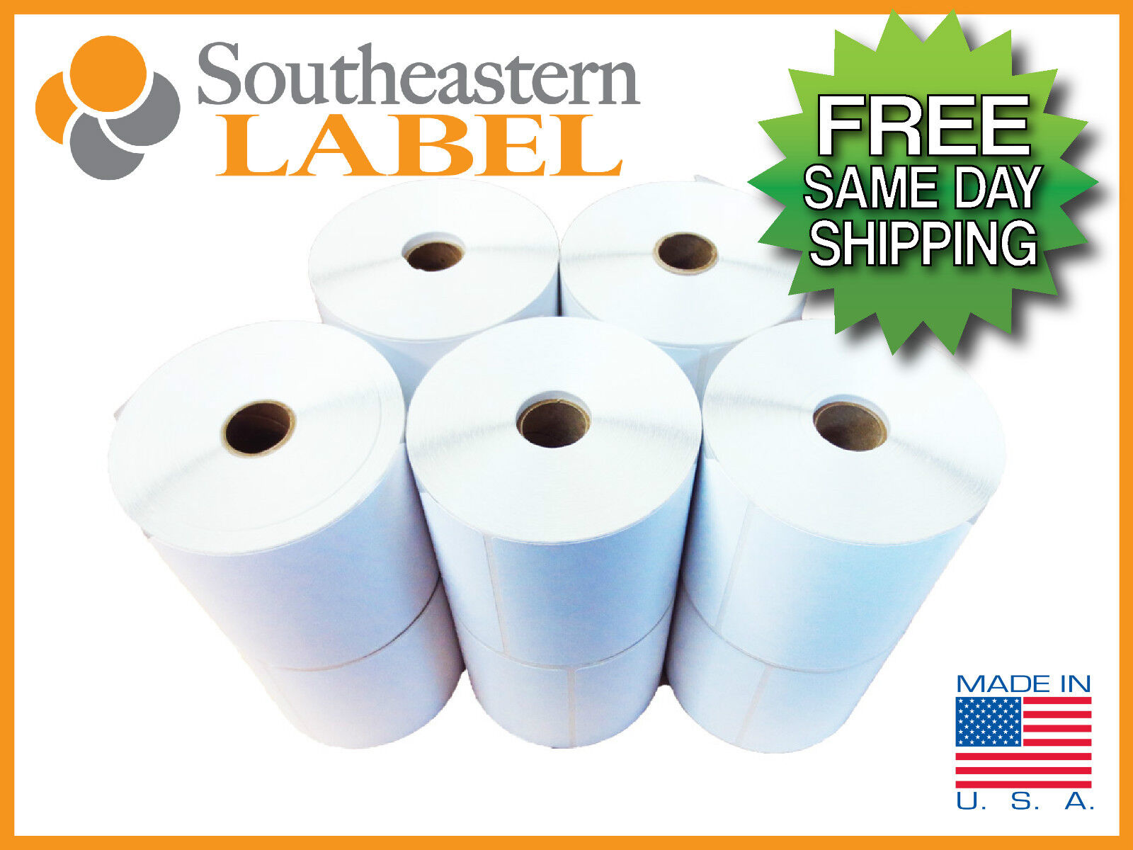 4x6 Direct Thermal Label 20 rolls 450 roll Zebra Eltron 2844  FREE SHIPPING