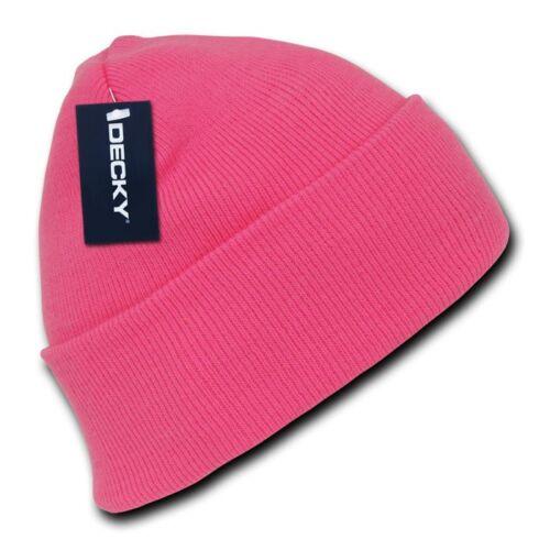 1 Dozen Neon Long Cuffed Beanies Knit Caps Hats Ski Skull Wholesale Lot