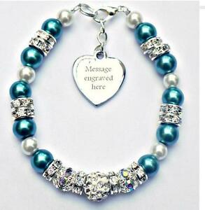 Personalised engraved ovarian cancer awareness bracelet for Jewelry that supports a charity