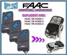FAAC 433DS-1 / FAAC 433DS-2, 433DS-3 Kompatibel Handsender, KLONE fernbedienung