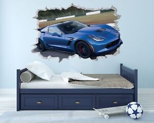 Astonishing Details About Corvette Z06 Wall Hole 3D Decal Vinyl Sticker Decor Room Smashed Racing Download Free Architecture Designs Scobabritishbridgeorg