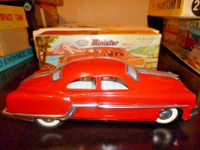 Ministro único de estaño Deluxe Pontiac rojo coche mecánico mecánico mecánico Litografía Caja Nuevo Sin Usar, En Caja  barato y de moda