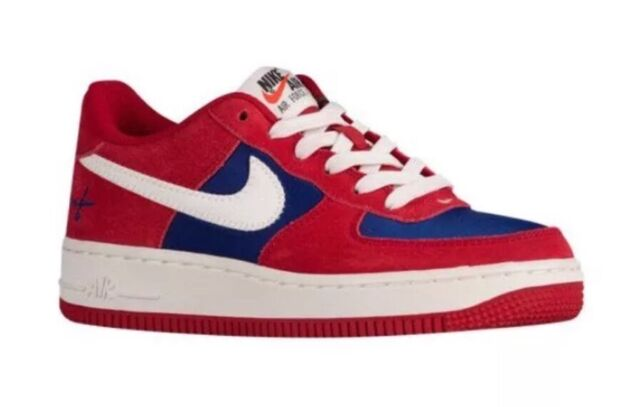 Nike Air Force 1 Low GS (big Kids) Red White   Blue for sale online ... d0fa73fa9d6f