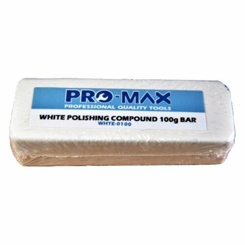 Pro-Max 100 G Barre Acier Blanche /& Métalliques En Acier Inoxydable polissage composé polissage
