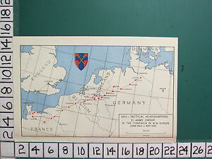 Details about WW2 MAP AXIS TACTICAL HEADQUARTERS 21 ARMY GROUP (JUNE 1944 -  MAY 1945) CAMPAIGN
